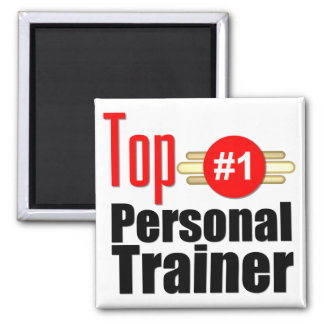 Top Personal Trainer Square Magnet
