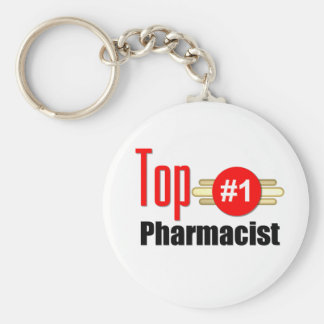 Top Pharmacist Basic Round Button Key Ring