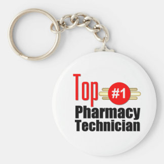 Top Pharmacy Technician Basic Round Button Key Ring