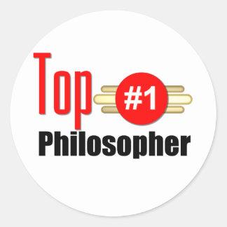 Top Philosopher Round Sticker