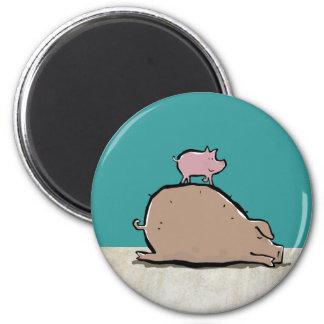 top pigs 6 cm round magnet
