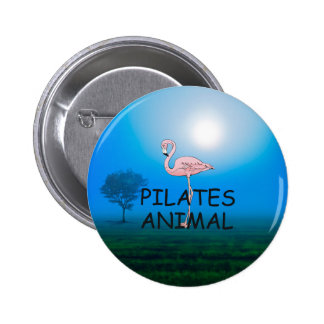 TOP Pilates Animal 6 Cm Round Badge