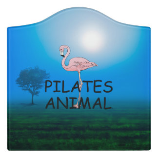 TOP Pilates Animal Door Sign