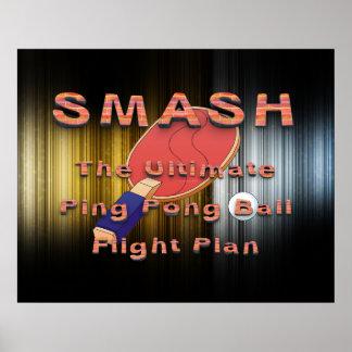 TOP Ping Pong Slogan Poster