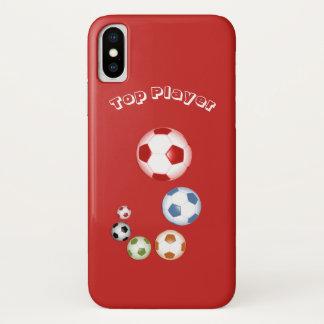 Top Player Soccer Balls iPhone X Case