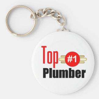 Top Plumber Basic Round Button Key Ring