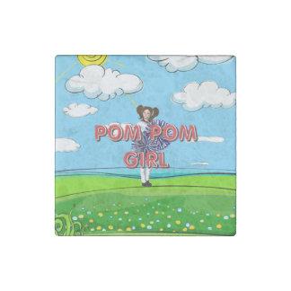 TOP Pom Pom Girl Stone Magnet