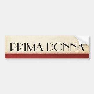 TOP Prima Donna Bumper Sticker