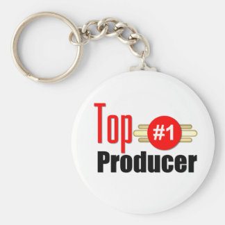 Top Producer Basic Round Button Key Ring