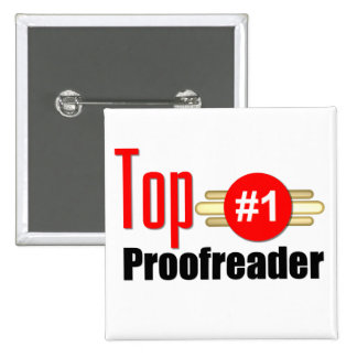 Top Proofreader Pinback Buttons