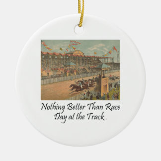 TOP Race Day at the Track Ceramic Ornament