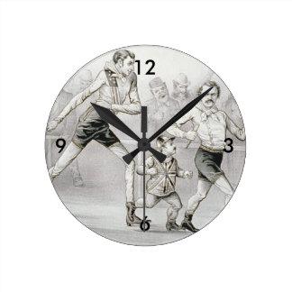 TOP Race Walker Round Clock