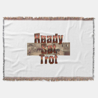 TOP Ready Set Trot Throw Blanket