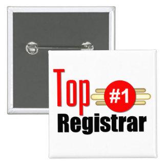 Top Registrar 15 Cm Square Badge