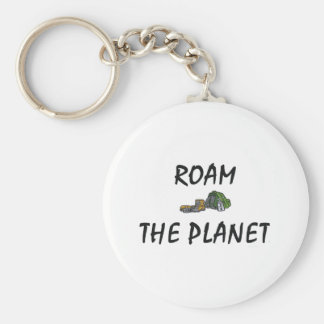 TOP Roam the Planet Basic Round Button Key Ring