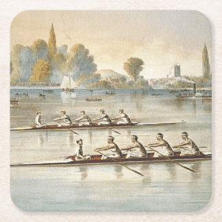 TOP Rowing Square Paper Coaster