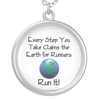 TOP Run Earth Silver Plated Necklace