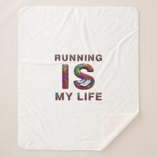 TOP Running is My Life Sherpa Blanket