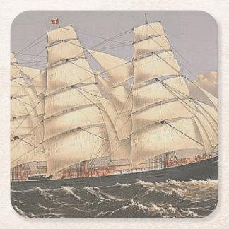 TOP Sailing Seas Square Paper Coaster