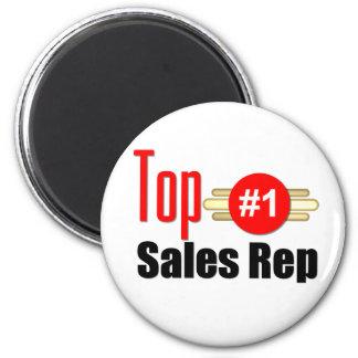 Top Sales Rep 6 Cm Round Magnet