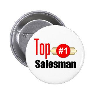 Top Salesman 6 Cm Round Badge