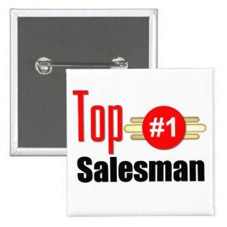 Top Salesman 15 Cm Square Badge