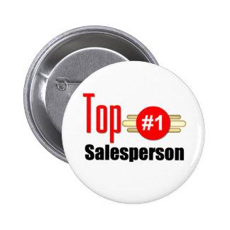 Top Salesperson Pinback Button