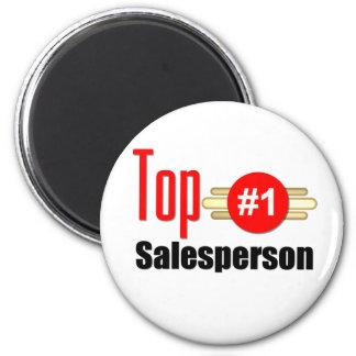 Top Salesperson 6 Cm Round Magnet