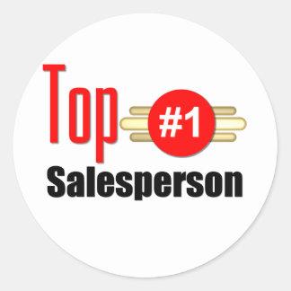 Top Salesperson Round Sticker