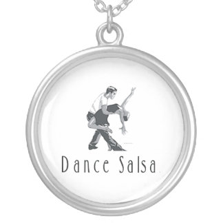 TOP Salsa Dance Silver Plated Necklace