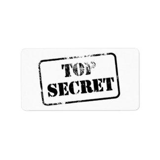 Top Secret Address Label