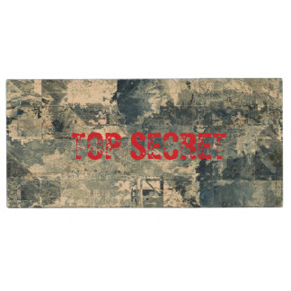 Top Secret Army Navy Air Force Camo Flash Drive Wood USB 2.0 Flash Drive