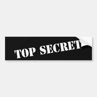 Top Secret bumper sticker