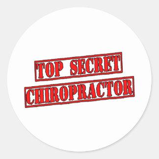 Top Secret Chiropractor Round Sticker