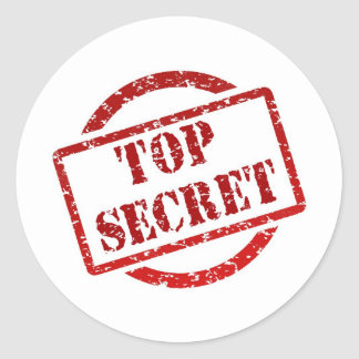 Top Secret Classic Round Sticker (sheet of 20)