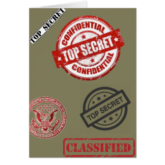 Top Secret Classified Card