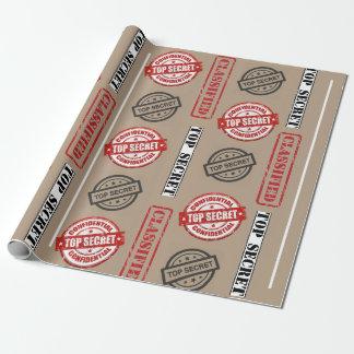 Top Secret Classified Gift Wrap
