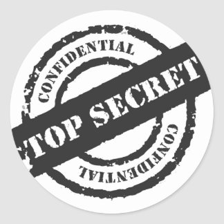 Top Secret Confidential Classic Round Sticker