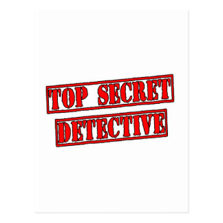Top Secret Detective Postcard