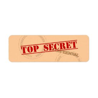 Top Secret Fun Label Stickers Return Address Label