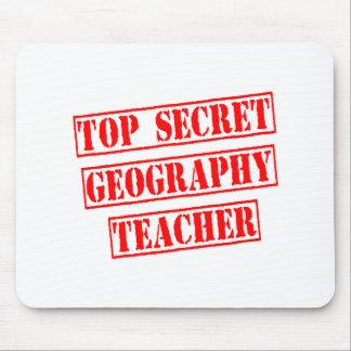 Top Secret Geography Teacher Mousepads