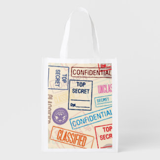 Top Secret - Go Away! Reusable Grocery Bag