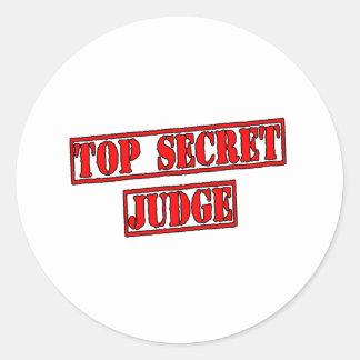 Top Secret Judge Round Stickers