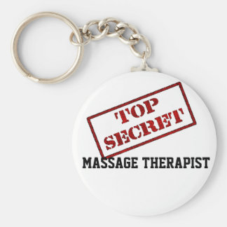 TOP SECRET MASSAGE THERAPIST KEY RING