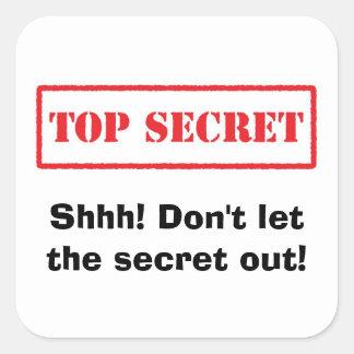 Top secret. Shhh! Dont let the secret out stickers