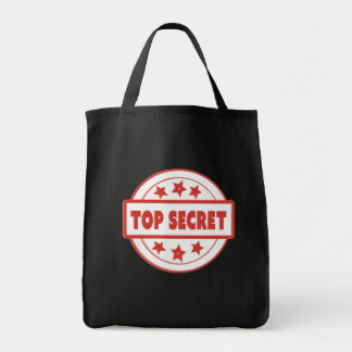 Top Secret Stamp Red Your Custom Grocery Tote Grocery Tote Bag