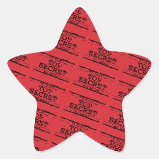 Top Secret Star Sticker