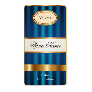 Top Shelf Blue Wine Label