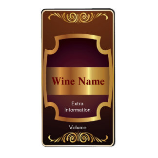 Top Shelf Red Wine Label Shipping Label
