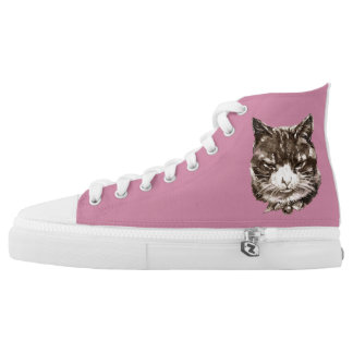 Top Shoes Sneakers, walking shoes, Cat Printed Shoes